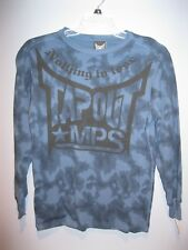 New Men's Tap Out MPS Nothing to Lose Thermal Long Sleeve Shirt Blue Camo Small