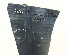 EUC $289 G STAR Mens JEANS RAW DENIM Blue MORRIS LOW STRAIGHT Button Fly 31 x 34
