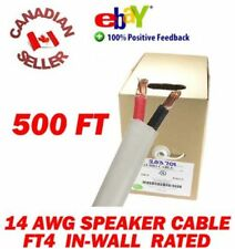 500 FT High Definition 14 Gauge AWG Speaker Wire Cable Pull-box IN-WALL FT4