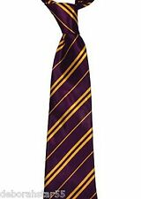School Boy Wizard Girl Witch Yellow & Maroon Striped Tie Halloween Fancy Dress