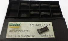 8 stechplatten Inserts GX 16 4e 6,00n 0,50 wos2 de wodex 19 488 111 nuevo h9278