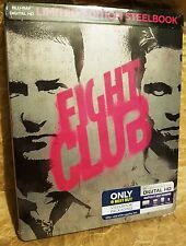 FIGHT CLUB (1999) Blu-ray Disc + Digital HD Copy Limited Edition STEELBOOK