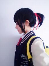 Film Your Name Miyamizu Mitsuha Anime Black Costume Cosplay Wig +Wig Cap +Track