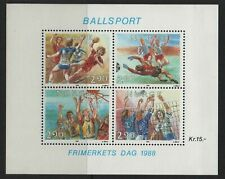 Norway Stamps 1988 Stamp Day, Sport Sheet Sg Ms 1049 Very Lightly Mounted Mint