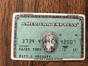 American Express Expired Credit Card Matt Gregory Producer Signed 1980-1980