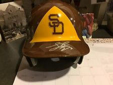 San Diego Padres Game Used Batting Helmet Throwback Luis Durango Size 7 1/8