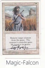x1 Swords to Plowshares 4TH Edition ENGLISH (1995) NM MAGIC MTG ★★★★ SIGNED !