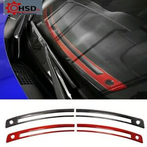 Carbon Fiber Front Air Conditioning Vent Outlet Stickers For Subaru BRZ Toyota