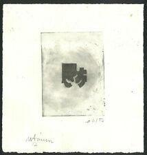 EDUARDO CHILLIDA Old Etching - Hand signed in pencil