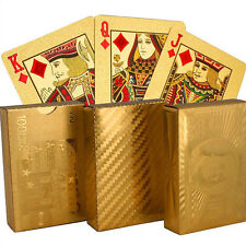 NEW High Grade 24K Gold Foil Plated Waterproof Game Poker Playing Cards Gracious