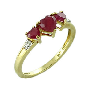 Ruby Gf Gemstone Jewelry 925 Sterling Silver Yellow Color Ring