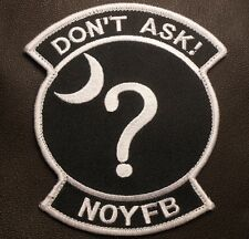 DON'T ASK NONE OF YOUR BUSINESS BLACK OPS SWAT VELCRO® BRAND FASTENER PATCH