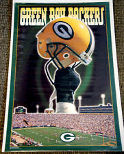 Green Bay Packers HELMET ABOVE LAMBEAU (1995) Costacos Brothers Theme Art POSTER