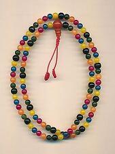 type coloré, Mala avec 108 perles (6mm) d'un Pierre précieuse Mélange Onyx 83