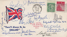 1945  There Always be an England  13 Signed by 7 Battle of Britain Pilots, Crew