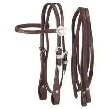 Tough-1 King Series Miniature Browband Headstall with Silver with Reins