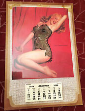 Vintage Original 1954 Marilyn Monroe Litho Calendar Golden Dreams Overlay Lace