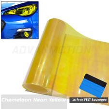 """12""""x 24"""" Chameleon Neon Golden Yellow Headlight Taillight Fog Light Tint Film"""
