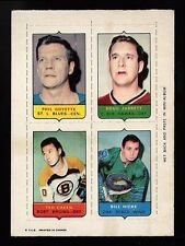 1969-70 OPC 1969 O-PEE-CHEE 4-IN-ONE~GOYETTE, JARRETT, GREEN, HICKE~50:50