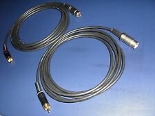 1 Mtr. - RCA (Pre-Amp) to B&O Beolab 3/9/4000(Mk2)/6002/8002 Cables (SHQ,Pair)