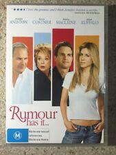Rumour Has It - Jennifer Aniston , Kevin Costner - Like New R4 DVD