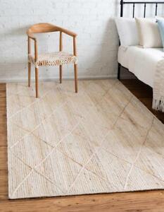 indian jute handmade white jute runner with white dimond area rug jute door mat