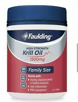 Faulding Krill Oil High Strength 1500mg (100 caps) great for joint & cholesterol