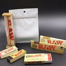 AUTHENTIC RAW ROLLING PAPER KING SIZE COLLECTION MACHINE WITH SMELL PROOF BAG