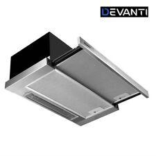 DEVANTi Rangehood Range Hood Stainless Steel Kitchen Canopy 60cm 600mm Black
