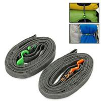 Stainless Strapping Cord Tape Rope Tied Pull Luggage Rescue Hook Outdoor Travel'