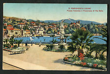Posted C1930s View of Piazza Colombo Town & Seafront, Ligure, Italy