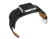 Apple Watch Black Band Genuine Her/mes Leather Strap For iWatch Edition 42mm