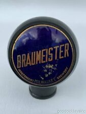 Vintage Braumeister Independent Brewery Milwaukee Round Beer Knob Tap Handle
