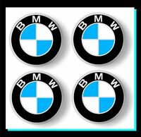 Adesivi repl. BMW per coprimozzi ruote-clacson-ecc