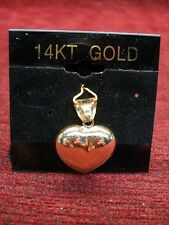14K YELLOW GOLD MILOR PUFFY HEART PENDANT - TRULY A NICE SIZE AND NICE CONDITION