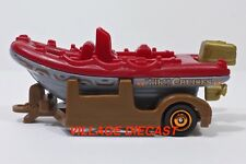 "2017 Matchbox ""River Adventures"" Raft Boat Red/Grey/Tiki Cruises/Mint"