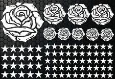 93 Rose Stelle Star Adesivi Auto Set Stylin ' murale Blumen m
