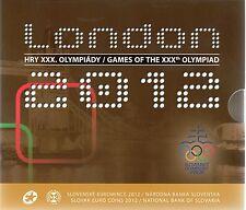 SERIE EURO BRILLANT UNIVERSEL (BU) - SLOVAQUIE 2012 LONDON