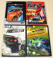 4 PC SPIELE SAMMLUNG NEED FOR SPEED PRO STREET UNDERGROUND JUICED GTR FIA