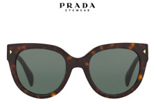 NIB Prada PR 17OS Cat-Eye Shape Polarized Sunglasses 54 22 140 Tortoise $245