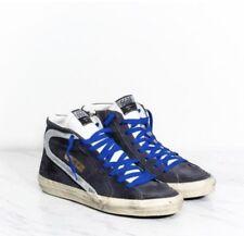Golden Goose Slide High Top Sneaker Navy Leather Suede 41 BNIB $615