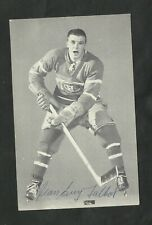 LATE 1950'S  MONTREAL  CANADIENS JEAN GUY TALBOT     AUTOGRAPHED  POST CARD
