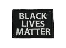Black Lives Matter Embroidered Sew/Iron-On Patch Hook & Loop BLM Protest