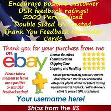5000 DS UV GLOSS CLASSIC DESIGN eBay CUSTOM 5 STAR DSR SELLER THANK YOU CARDS