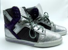 Supra Skytop Muska 001 Skate Shoe Silver Purple Grey US 10.5