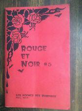 Rouge Et Noir #5 Les Poems des vampires Fall, 1994 book of poems store#1628