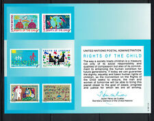 UN 1991: #SC40 Rights of the Child Souvenir Card NH -Lot#8/8
