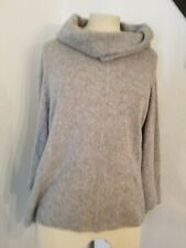 Lutz & Patmos Cape Cardigan Top OS Wool Cashmere Cawl Neck Sweater Poncho Gray