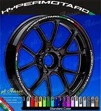 Set Adesivi Cerchi Moto Ruote DUCATI HYPERMOTARD 796 1100 821 939 Tricolore