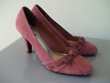 M&S COLLECTION INSOLIA PRETTY DUSKY PINK SUEDE HEELS  SZ UK 6 EU 39.5 WIDER FIT